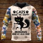 Cat make me happy OVER PRINTED SHIRTS 161220