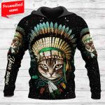 Native american cat Personalized ALL OVER PRINTED SHIRTS 171220