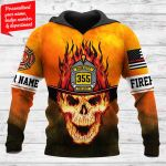 Skull firefighter Personalized ALL OVER PRINTED SHIRTS 181220