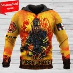 U.S firefighter Personalized ALL OVER PRINTED SHIRTS 191220