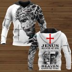 Jesus because of him heaven know my name ALL OVER PRINTED SHIRTS 221220