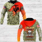 Lineman the hardest Personalized ALL OVER PRINTED SHIRTS 241220