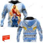 God found the strongest Nurse  Personalized ALL OVER PRINTED SHIRTS 281220