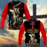 It Ain't Over Until God Says It Over! Keep Fighting Until Your Victory Is Won! Knight ALL OVER PRINTED SHIRTS