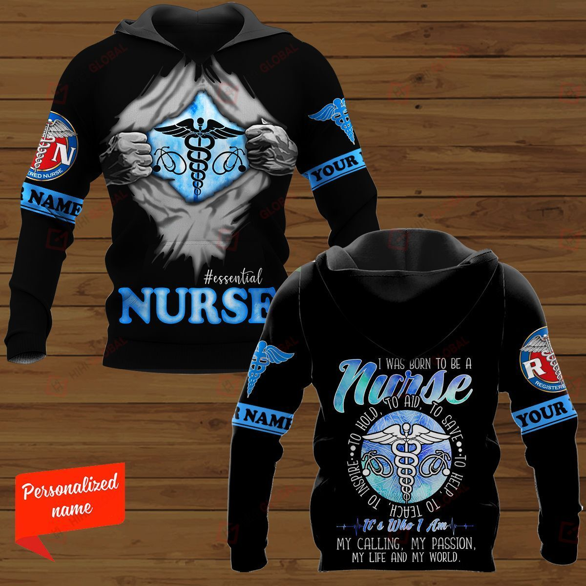 I Was Born To Be A Nurse To Hold To Aid To Save To Help Nurse Personalized ALL OVER PRINTED SHIRTS