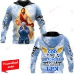 God Found The Strongest People And Made Them LPN Nurse Personalized ALL OVER PRINTED SHIRTS