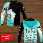 Never Underestimate A Nurse Who Does All Thing Through Who Christ Strengthens Her Nurse Personalized ALL OVER PRINTED SHIRTS