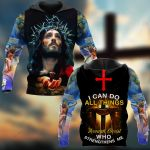 I Can Do All Things through Christ Who Strengthens Me Christ ALL OVER PRINTED SHIRTS