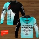 Frontline Warrior 2021 CNA Nurse Personalized ALL OVER PRINTED SHIRTS