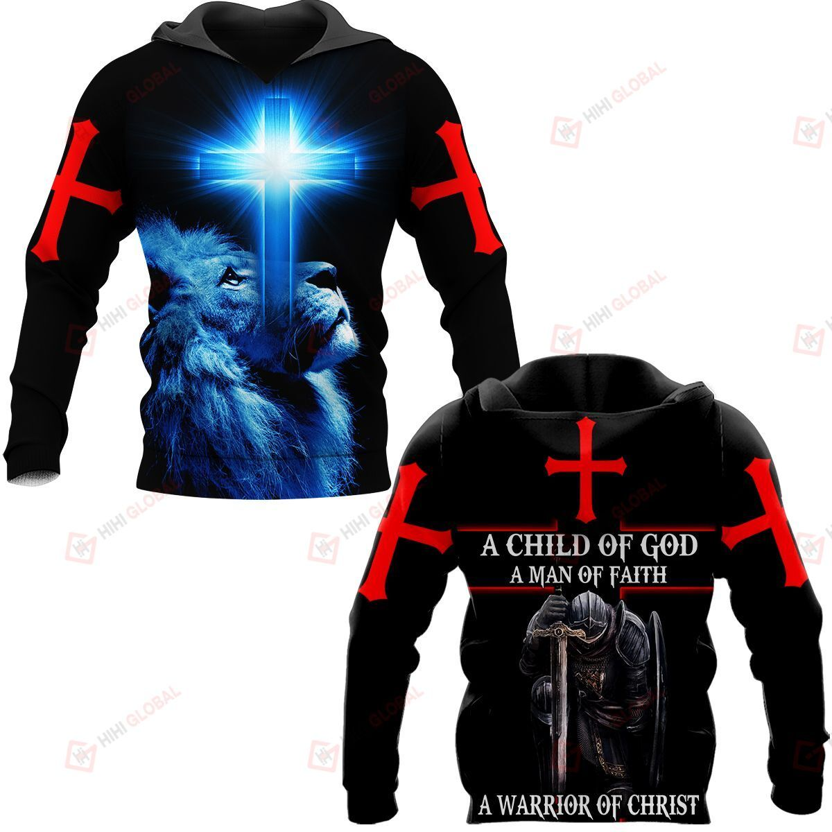 A Child Of God A Man Of Faith A Worrior Of Christ ALL OVER PRINTED SHIRTS