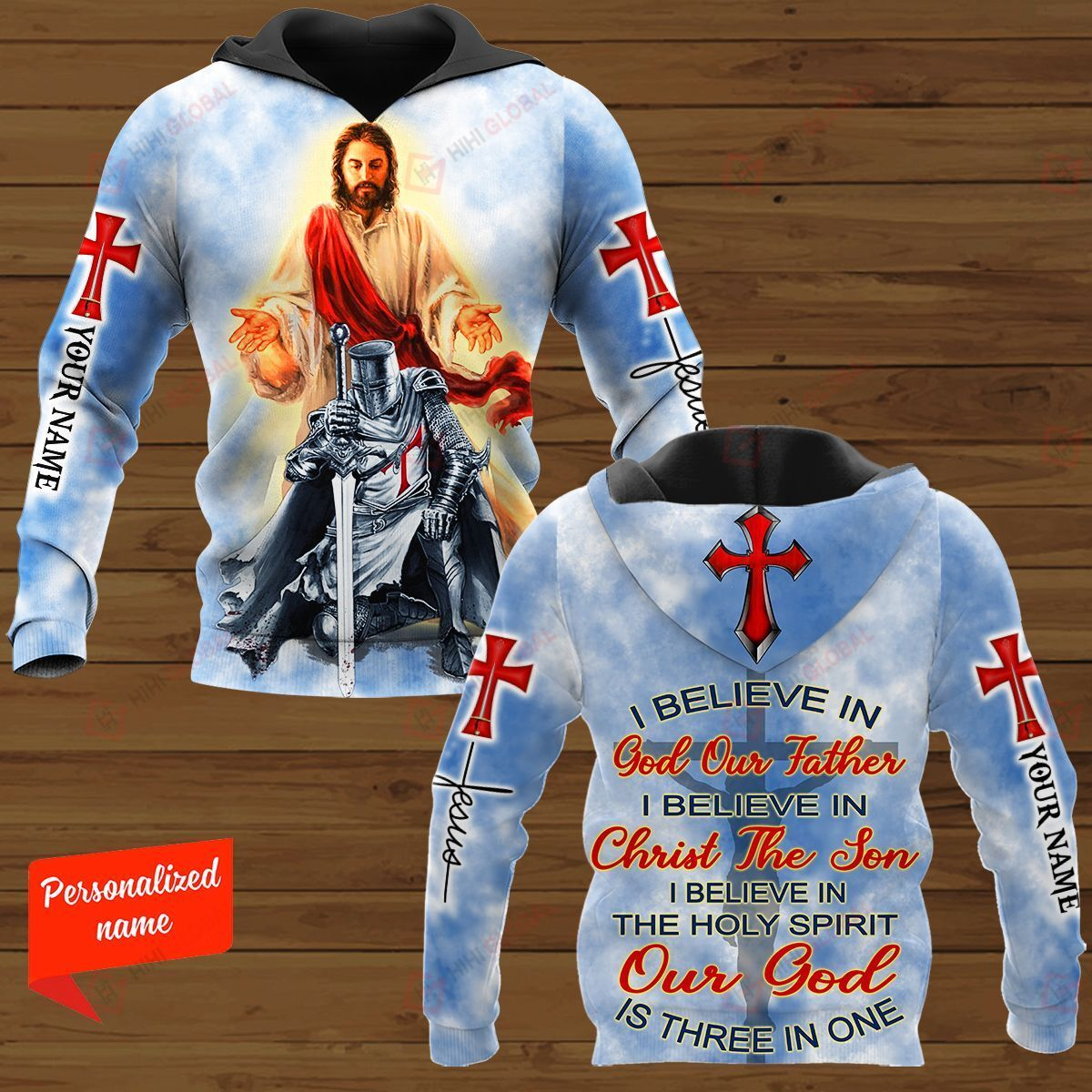 I Believe In God Our Father I Believe In Christ The Son I Believe In The Holy Spirit Out God Is Three In One Personalized ALL OVER PRINTED SHIRTS