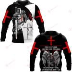 For He Will Order His Angels To Protect You Wherever You Go ALL OVER PRINTED SHIRTS