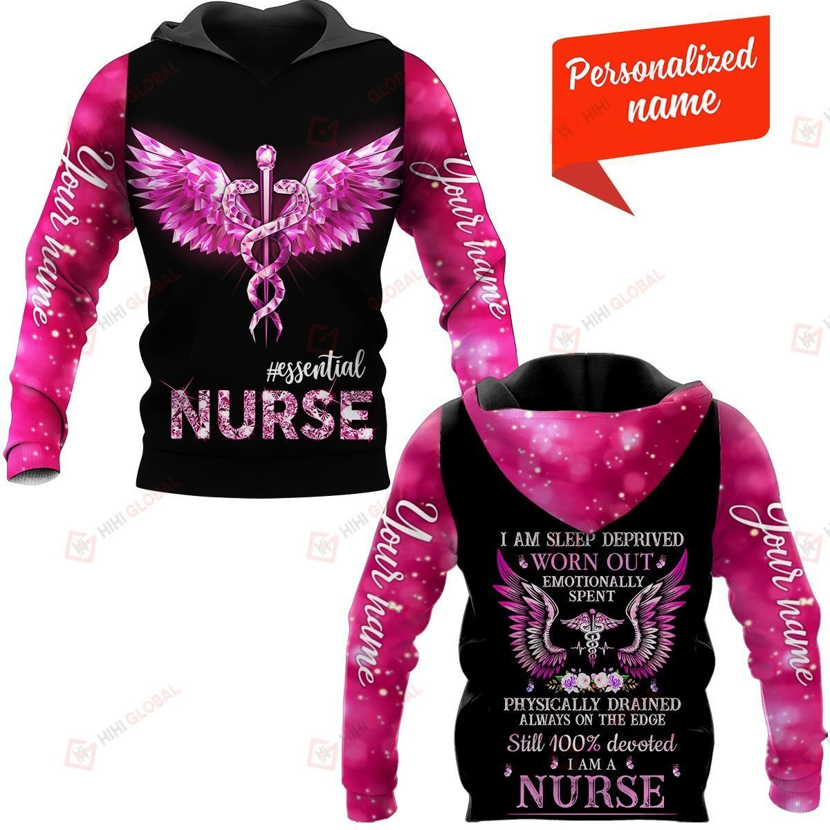 I Am Sleep Deprived Worn Out Emotionally Spent Physically Drained Always On The Edge Still 100% Devoted I Am A Nurse Personalized ALL OVER PRINTED SHIRTS