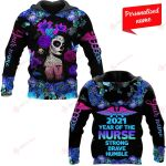 2021 Year Of Nurse Strong Brave Humble Nurse Personalized ALL OVER PRINTED SHIRTS