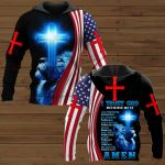 I Trust God Because He Is All Powerfull All Knowing Always With Me Wise Faithful Good Love Merciful Amen ALL OVER PRINTED SHIRTS