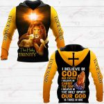 I Believe In God Out Father I Believe In Christ The Son I Believe In The Holy Spirit Our God Is Three In One ALL OVER PRINTED SHIRTS