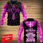 I Am A Bible Believe Prayer Pray In Praise Singin' Faith Walkin' Highly Favored Heart Blessin' Save And Servin' Jesus Lovin' Christan Girl Personalized ALL OVER PRINTED SHIRTS