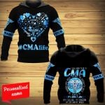 I Was Born To Be A CMA  To Hold To Aid To Save To Help To Teach To Inspire It's Who I Am My Calling My Passion My Life And My World Certified Medical Assistant Nurse Personalized ALL OVER PRINTED SHIRTS