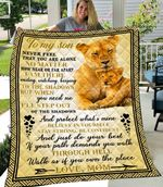 To My Son 6:10-18  ALL OVER PRINTED Blanket