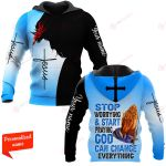 Stop Worrying & Start Praying God Can Change Everything Personalized ALL OVER PRINTED SHIRTS