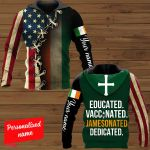 Educated Vaccinated Jemesonated Desicated Patrick's Day Personalized ALL OVER PRINTED SHIRTS