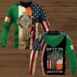 Irish In My Veins American In My Heart Patrick's Day ALL OVER PRINTED SHIRTS
