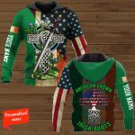 American Grown Irish Roots Patrick's Day Personalized ALL OVER PRINTED SHIRTS