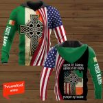 Irish By Blood American By Birth Patriot By Choice Patrick's Day Personalized ALL OVER PRINTED SHIRTS