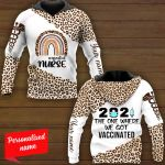#essential 2021 The One Where We Got Vaccinated Nurse Personalized ALL OVER PRINTED SHIRTS