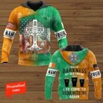 Hello Darkness My Old Friend I've Come To You to Drink With You Again Patrick's Day Personalized ALL OVER PRINTED SHIRTS