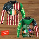 Irish By Blood American By Birth Patriot By Choice Patrick' Day Personalized ALL OVER PRINTED SHIRTS