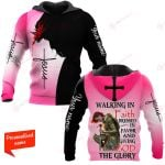 Walking In Faith Dressed In Favor And Giving God The Glory Personalized ALL OVER PRINTED SHIRTS