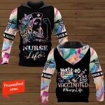 Nurse Life Masked And Vaccinated #Nurselife Personalized ALL OVER PRINTED SHIRTS