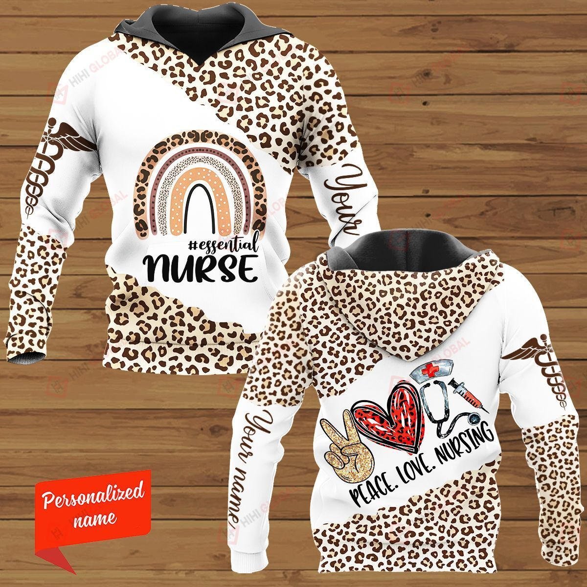 Peace Love Nursing #essential Nurse Personalized  ALL OVER PRINTED SHIRTS