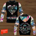 #essential Nurse Fierce Strong She is Brave Full of Fire Personalized ALL OVER PRINTED SHIRTS