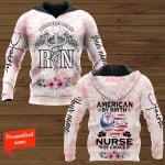 American By Birth Nurse By Choice Nurse Personalized ALL OVER PRINTED SHIRTS