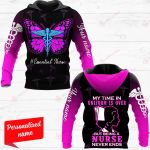 My Time In Uniform Is Over But Being A Nurse Never Ends Nurse Personalized ALL OVER PRINTED SHIRTS