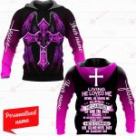 Living, He loved me Dying, He saved me Buried, He carried my sins far away Rising, He justified freely forever One day He's coming Oh glorious day, oh glorious day Personalized Name ALL OVER PRINTED SHIRTS HOODIE