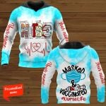 Masked Vaccinated Nurse Personalized ALL OVER PRINTED SHIRTS
