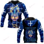 A Christian Man Without Prayer Is Like A Warrior Without A Sword ALL OVER PRINTED SHIRTS