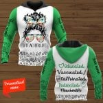 Educated Vaccinated Caffeinated Dedicated Teacher life #Teacherlife Personalized ALL OVER PRINTED SHIRTS