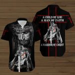 A Child of God a Man of Faith a Warrior of Christ ALL OVER PRINTED SHIRTS