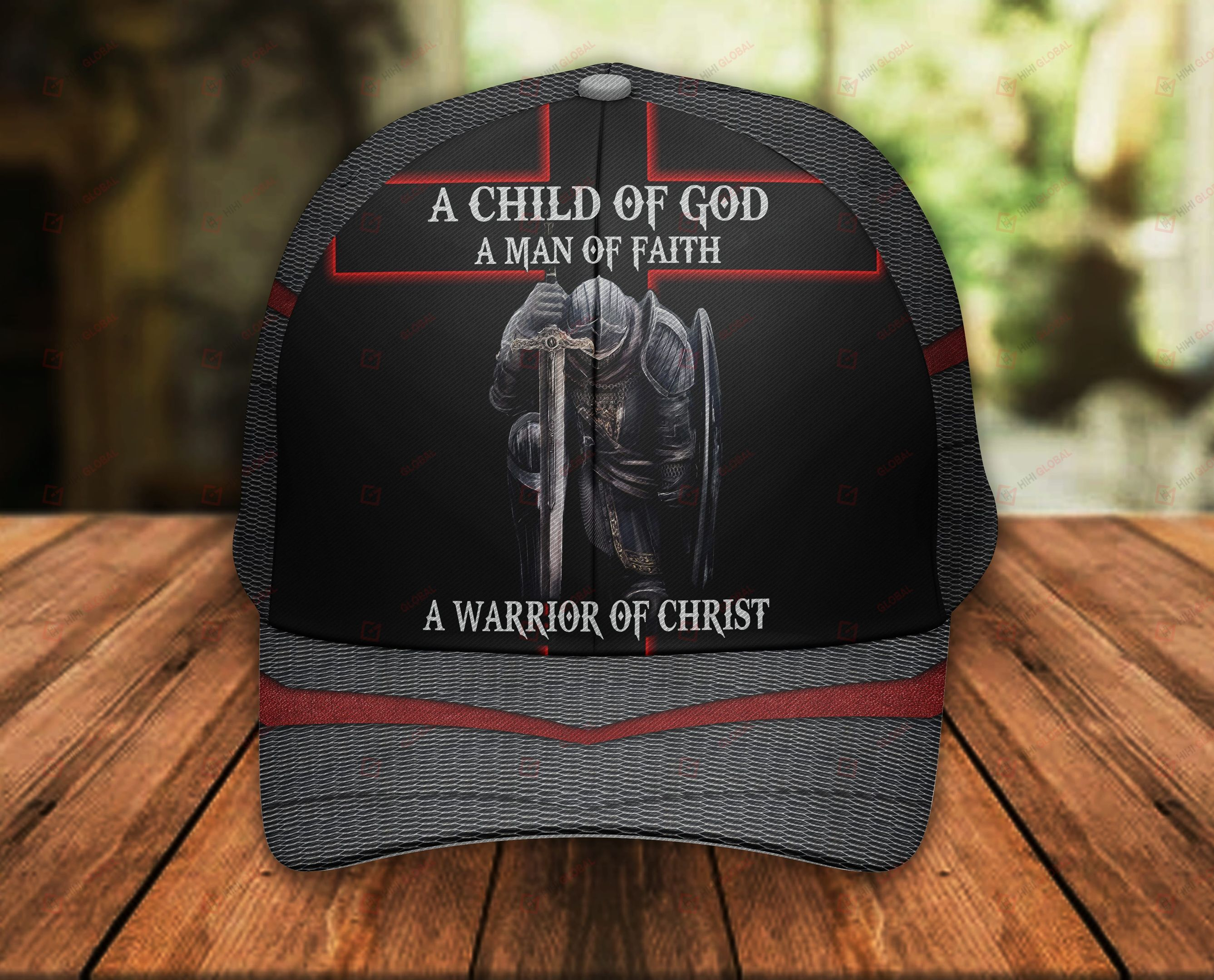 A Child Of God A Man Of Faith A Warrior of Christ Classic 3d Cap ALL OVER PRINTED