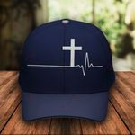 Jesus Christ God Hearbeat Classic 3d Cap ALL OVER PRINTED