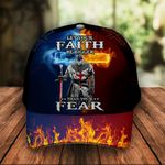 Let Your Faith Be Bigger Than Your Fear Knight Jesus Christ God Classic 3d Cap ALL OVER PRINTED