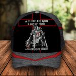 A Child of God A Man of Faith a Warrior of Christ Knight Christian Classic 3d Cap ALL OVER PRINTED