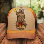 Camping Bear Camp Classic 3d Cap ALL OVER PRINTED