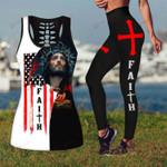 Jesus God Christ Faith combo Tank + Legging ALL OVER PRINTED