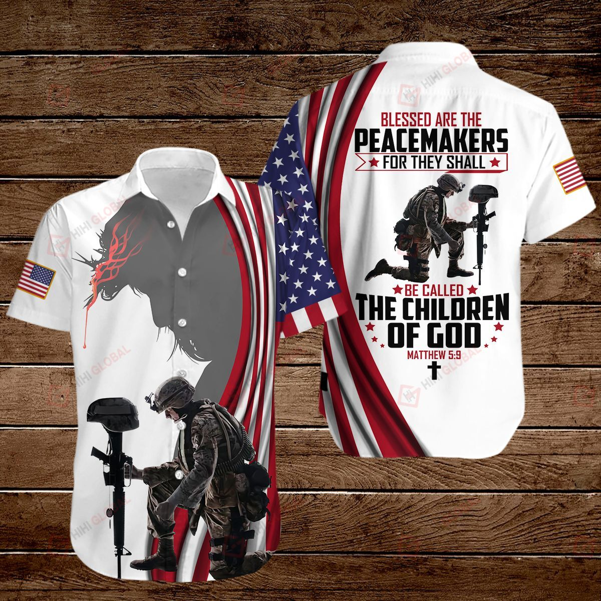 Blessed Are The Peacemakers The Children Of God US flag 3D Shirts