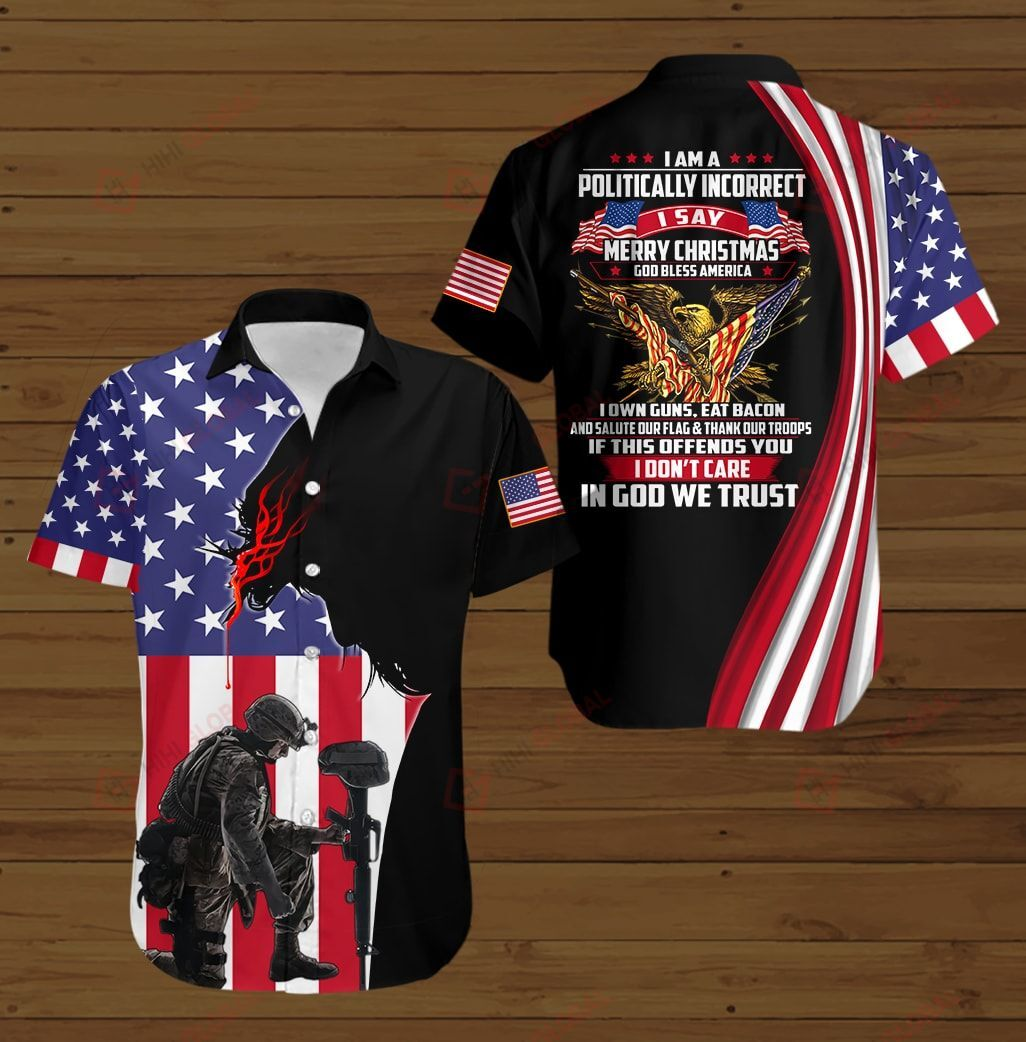I am A Veteran I Believe in God Family and Country I Will Salute My Flag Proud American 3D Shirt